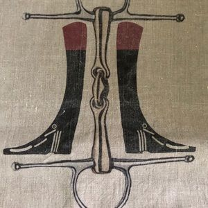 """Ox Bow Decor """"Boots and Bit""""  Pillow Cover 20"""""""